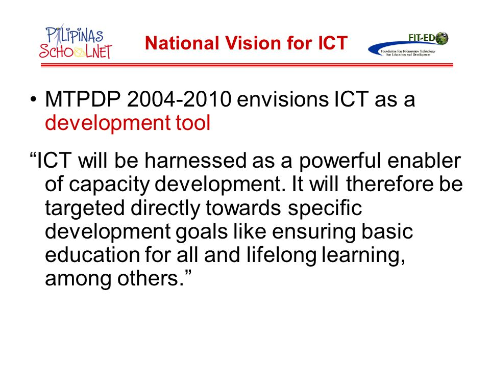 National Vision for ICT