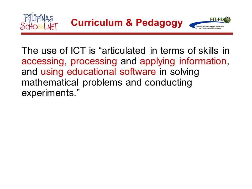 Curriculum & Pedagogy