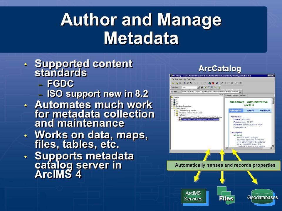 Author and Manage Metadata