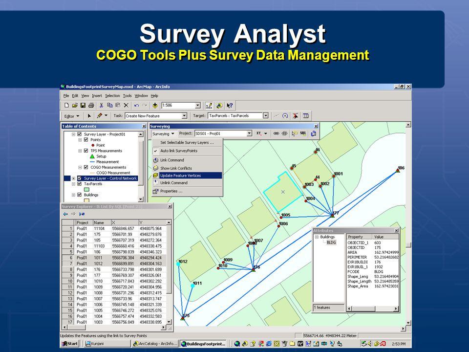 Survey Analyst COGO Tools Plus Survey Data Management