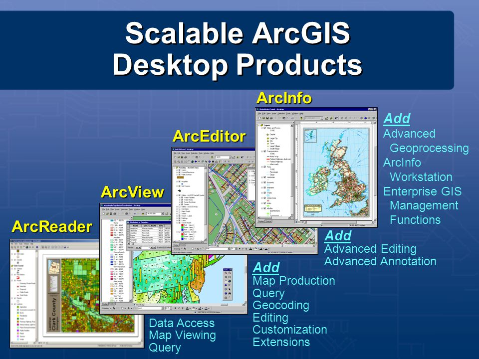 Scalable ArcGIS Desktop Products