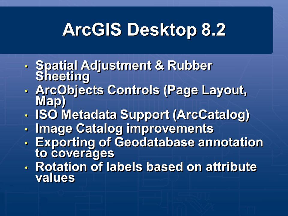 ArcGIS Desktop 8.2 Spatial Adjustment & Rubber Sheeting
