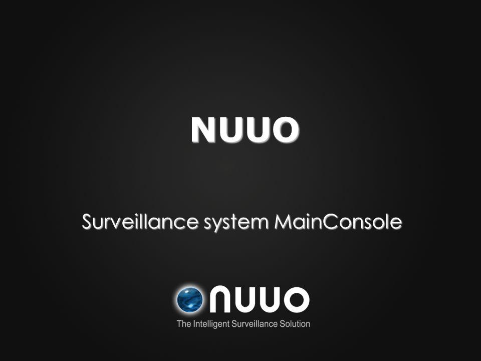 Surveillance system MainConsole