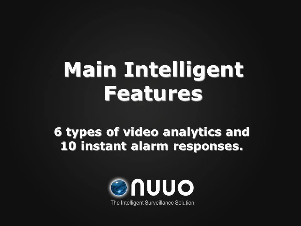 Main Intelligent Features
