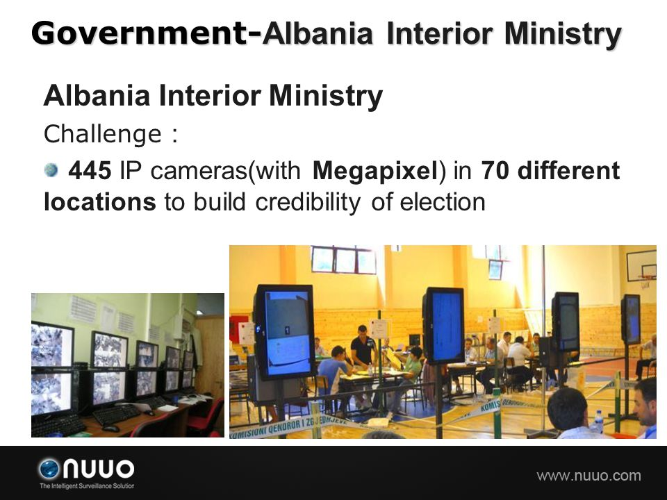 Government-Albania Interior Ministry