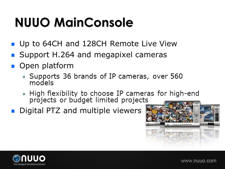 NUUO MainConsole Up to 64CH and 128CH Remote Live View