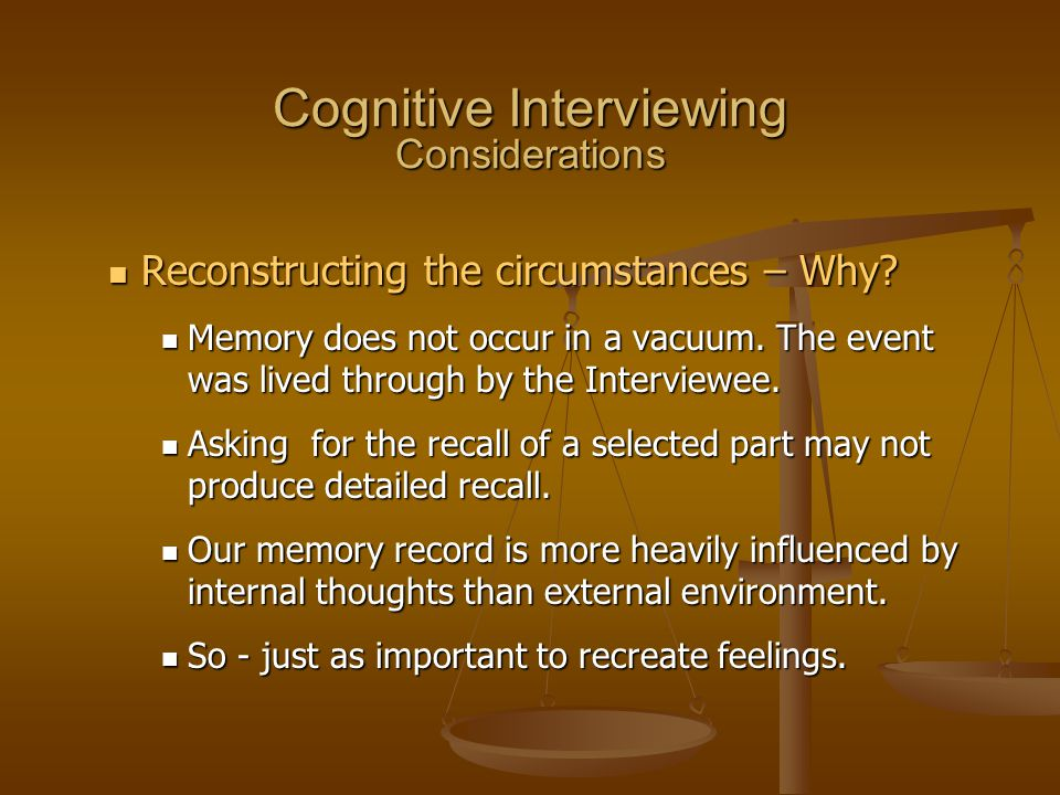 Cognitive Interviewing Considerations
