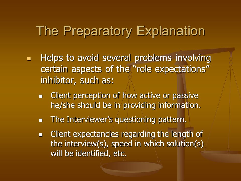 The Preparatory Explanation