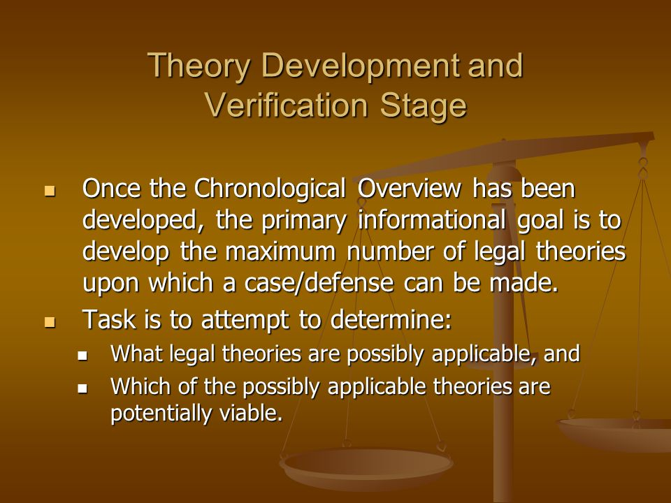 Theory Development and Verification Stage