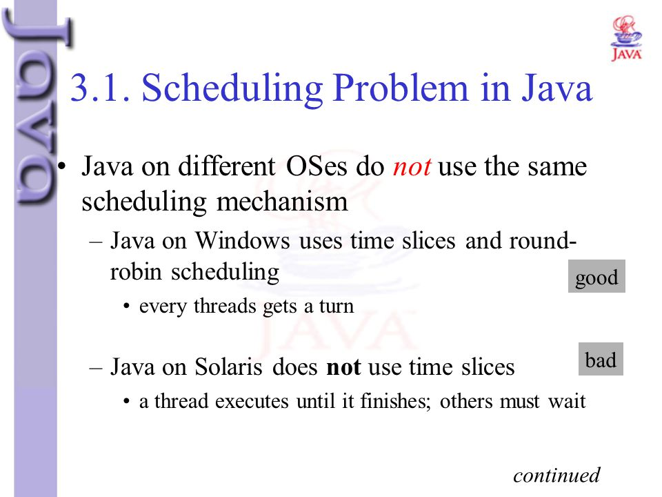 3.1. Scheduling Problem in Java