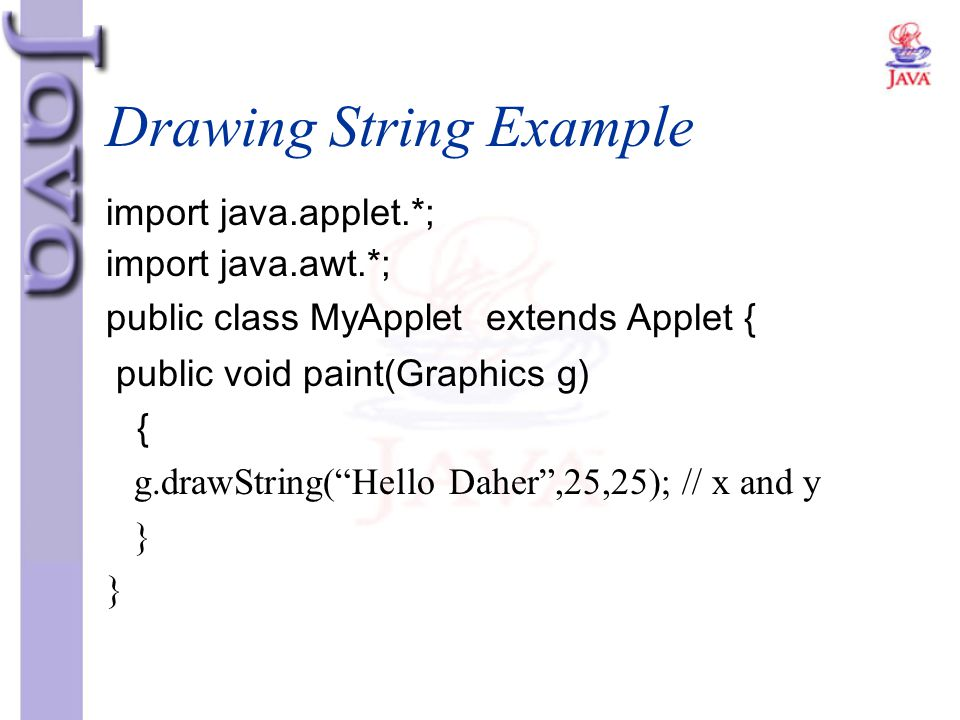 Drawing String Example