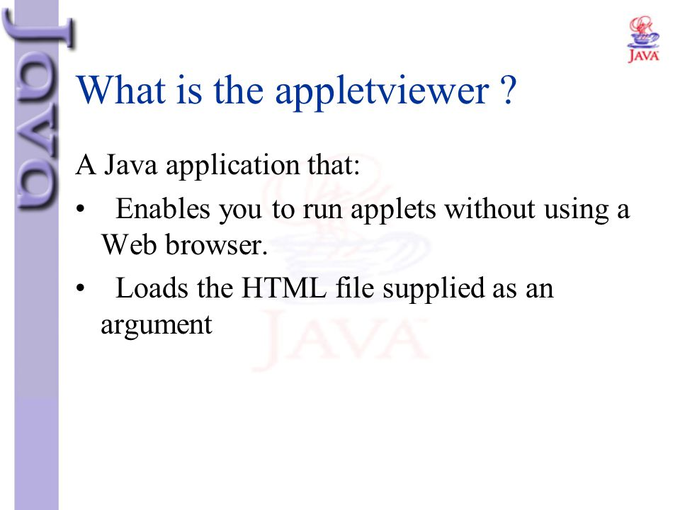 What is the appletviewer