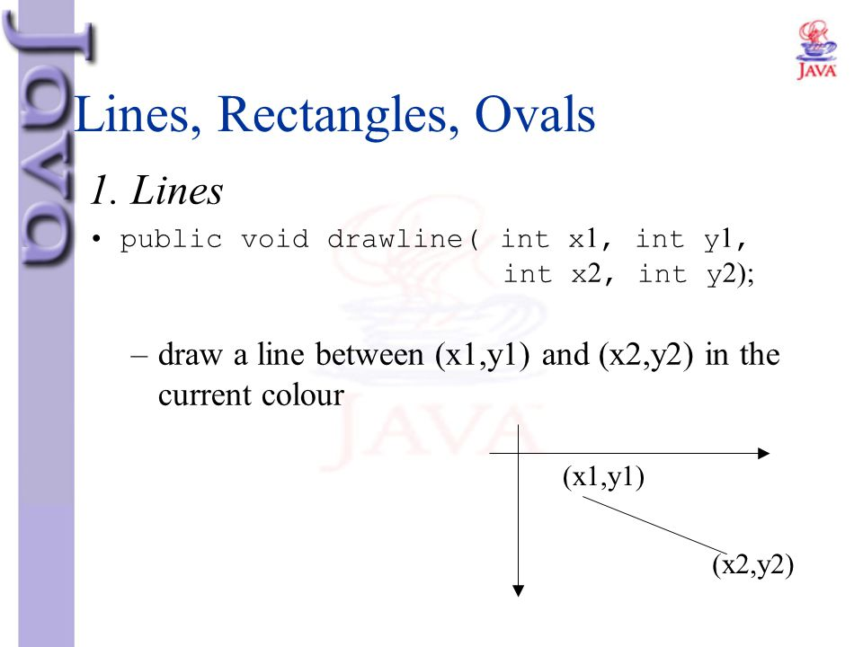 Lines, Rectangles, Ovals