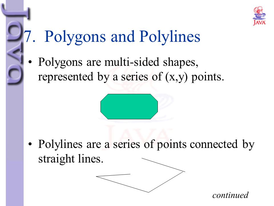 7. Polygons and Polylines