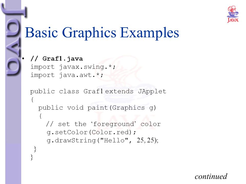 Basic Graphics Examples