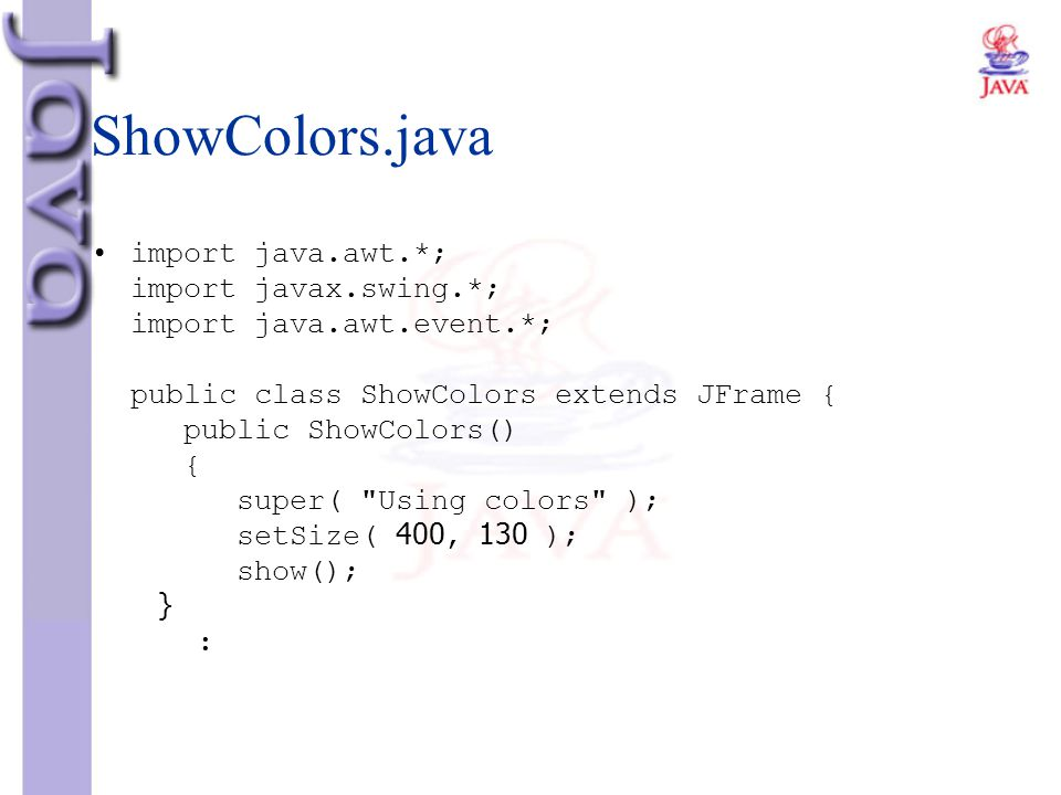 ShowColors.java
