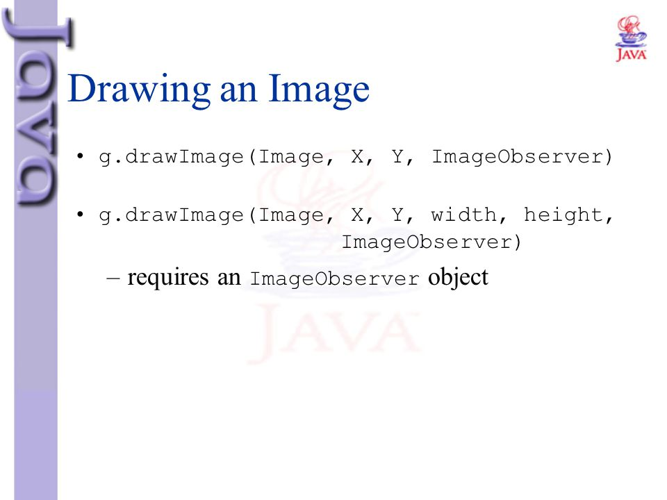 Drawing an Image requires an ImageObserver object