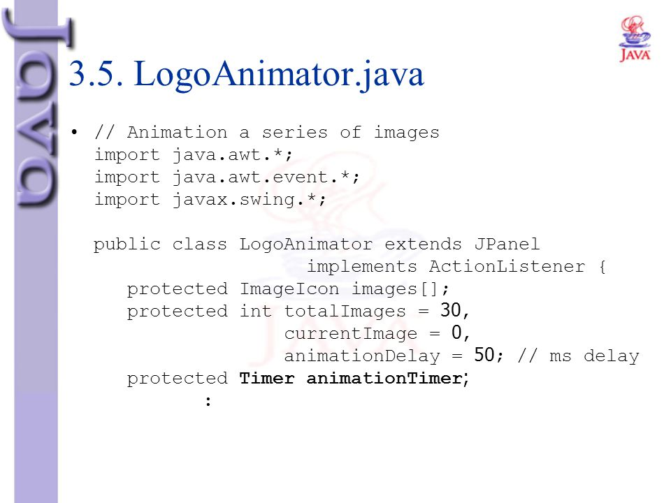 3.5. LogoAnimator.java