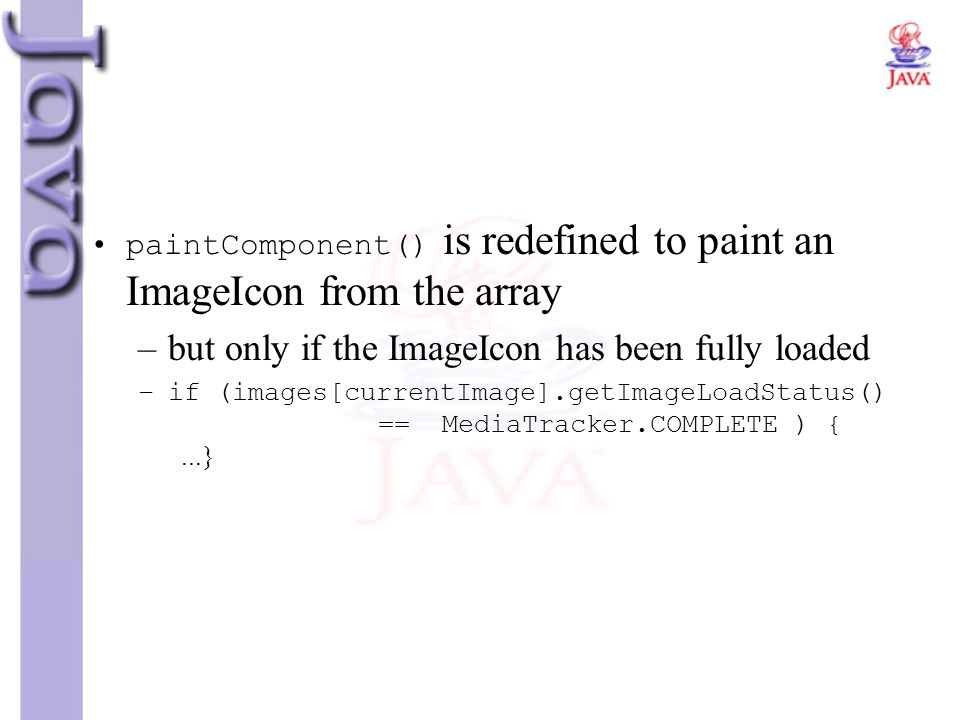 but only if the ImageIcon has been fully loaded