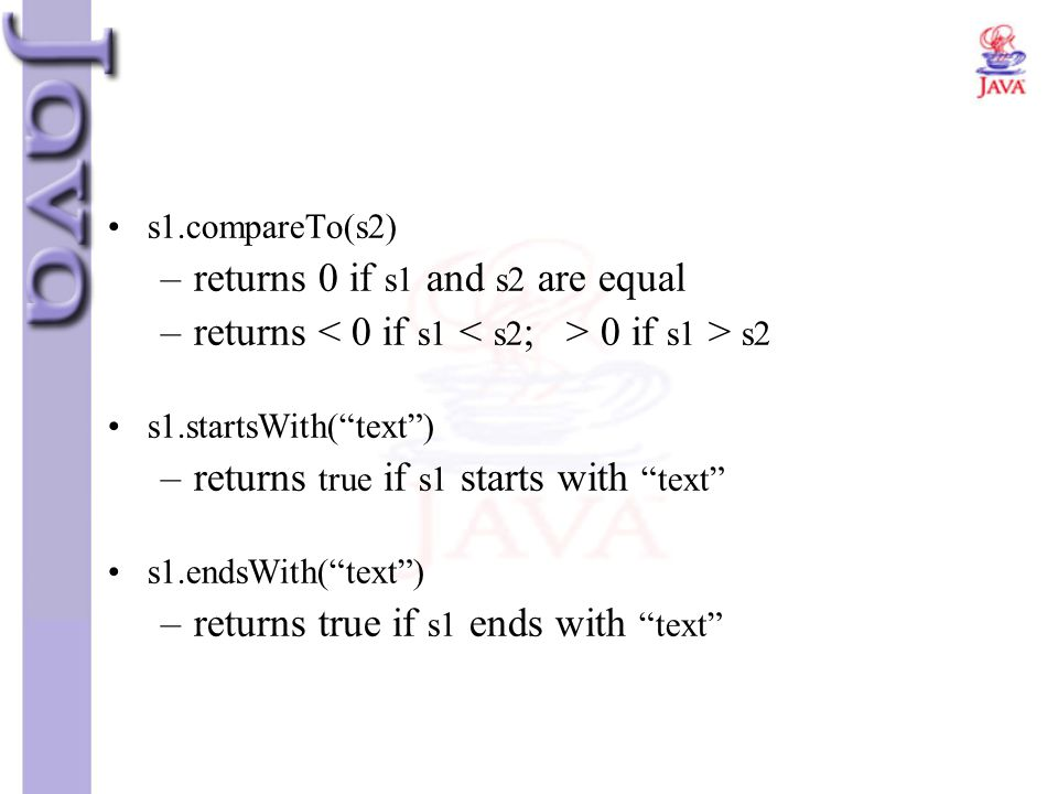 returns 0 if s1 and s2 are equal
