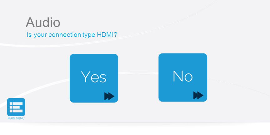 Audio Is your connection type HDMI