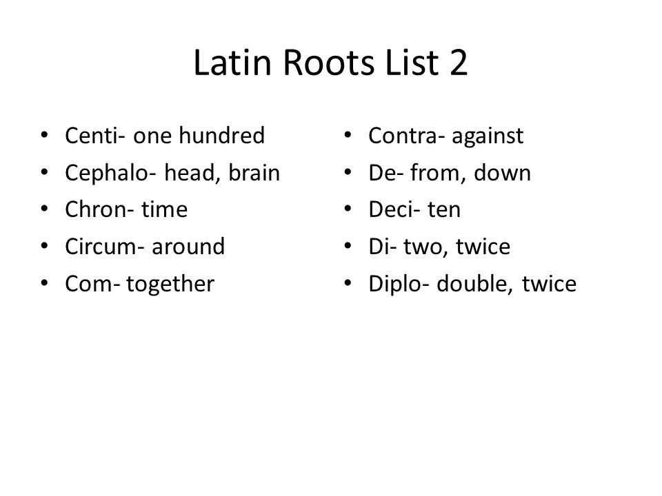 Greek and Latin Root Lists 9th Grade - ppt download