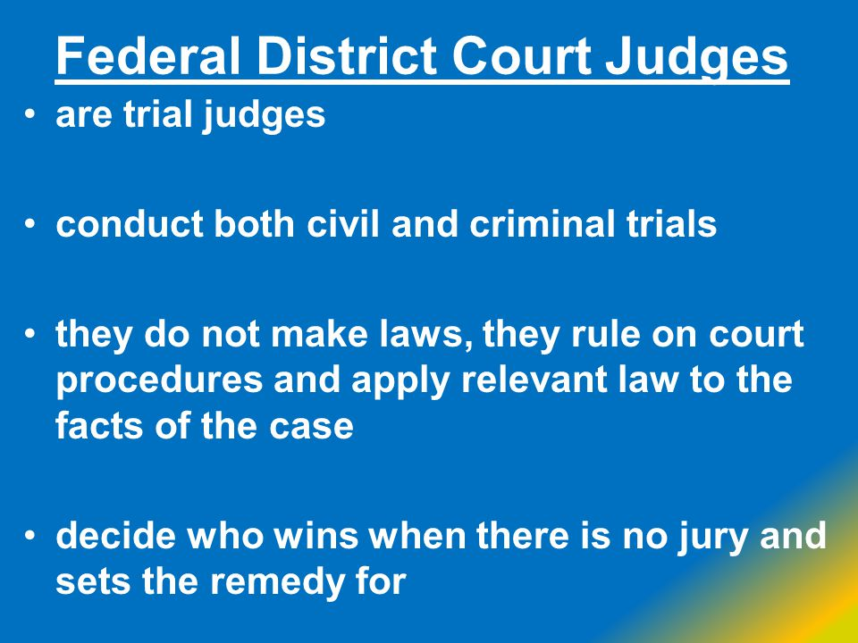 Federal District Court Judges