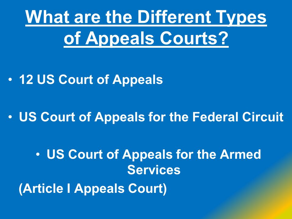 What are the Different Types of Appeals Courts