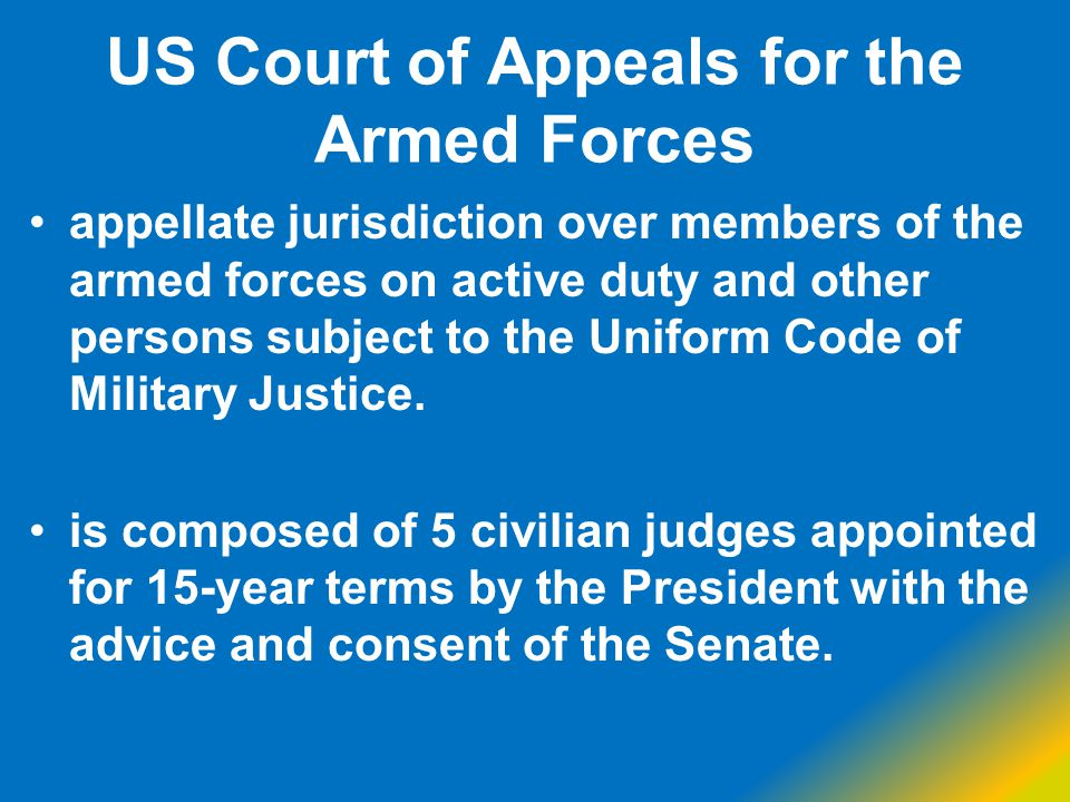 US Court of Appeals for the Armed Forces