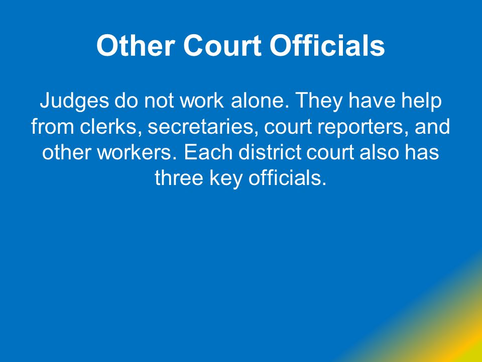 Other Court Officials