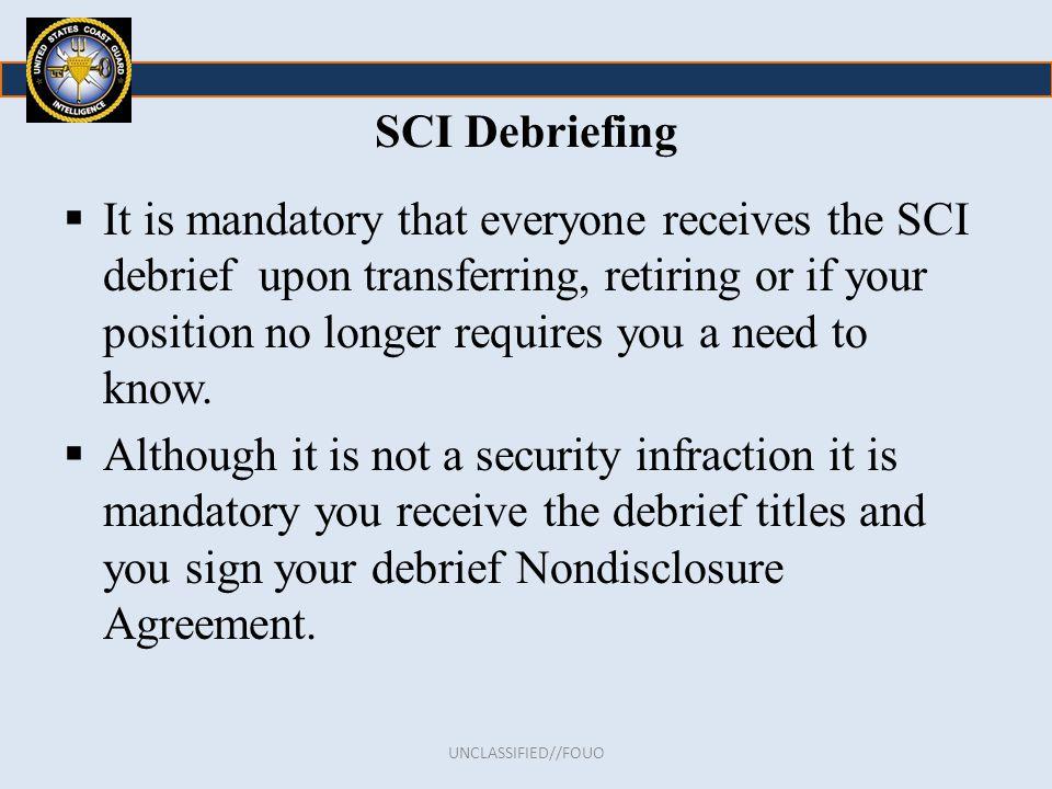 SCI Debriefing