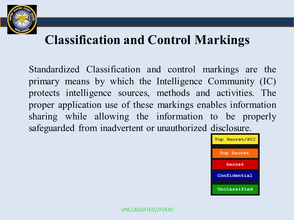 Classification and Control Markings