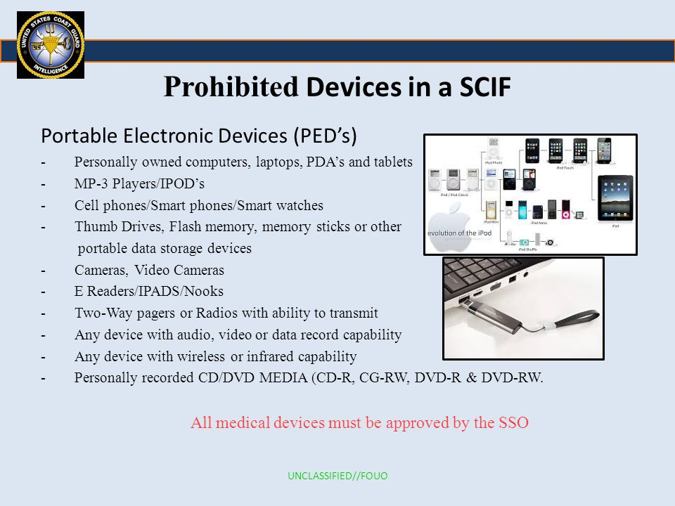 Prohibited Devices in a SCIF
