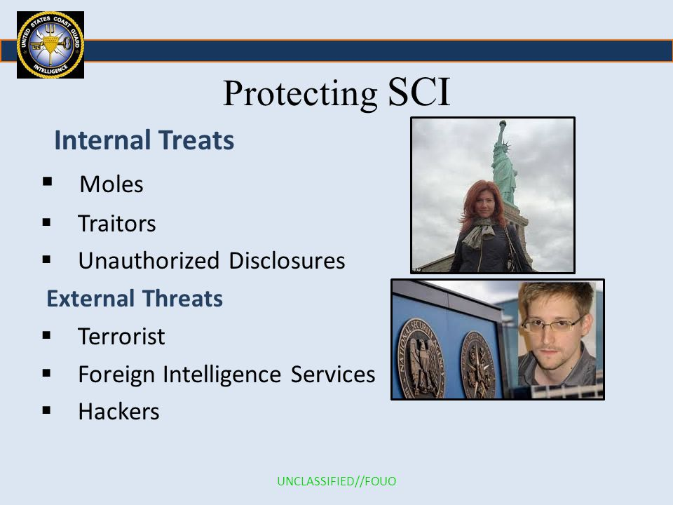 Protecting SCI Internal Treats Moles Traitors Unauthorized Disclosures