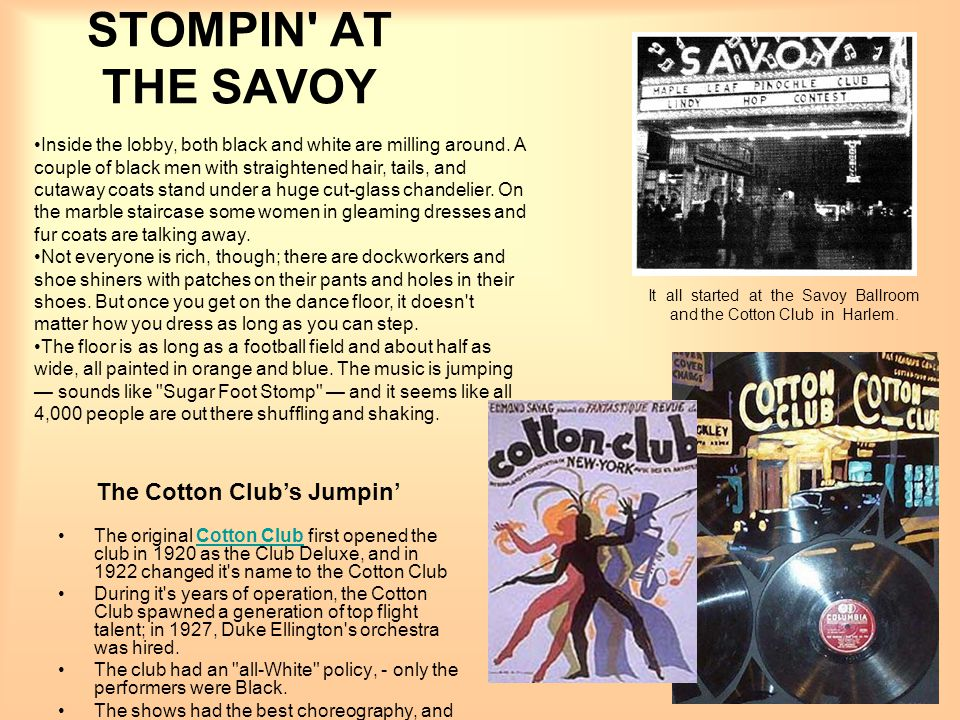 The Cotton Club's Jumpin'