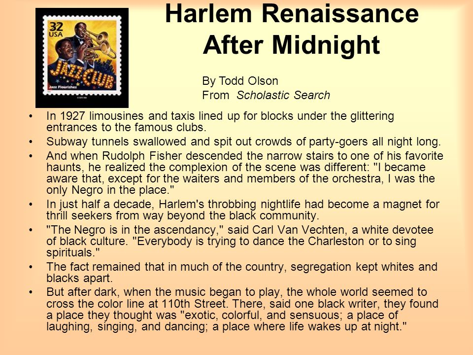 Harlem Renaissance After Midnight
