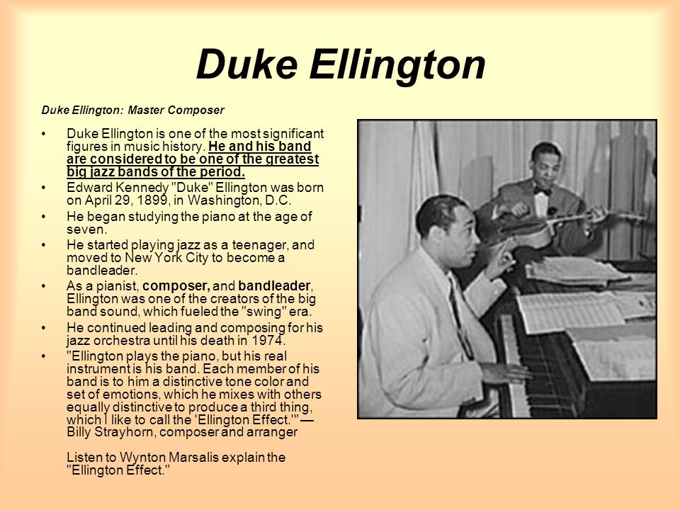 Duke Ellington Duke Ellington: Master Composer.