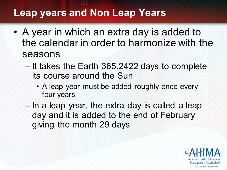 Leap years and Non Leap Years