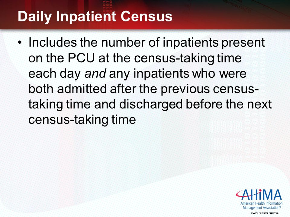 Daily Inpatient Census