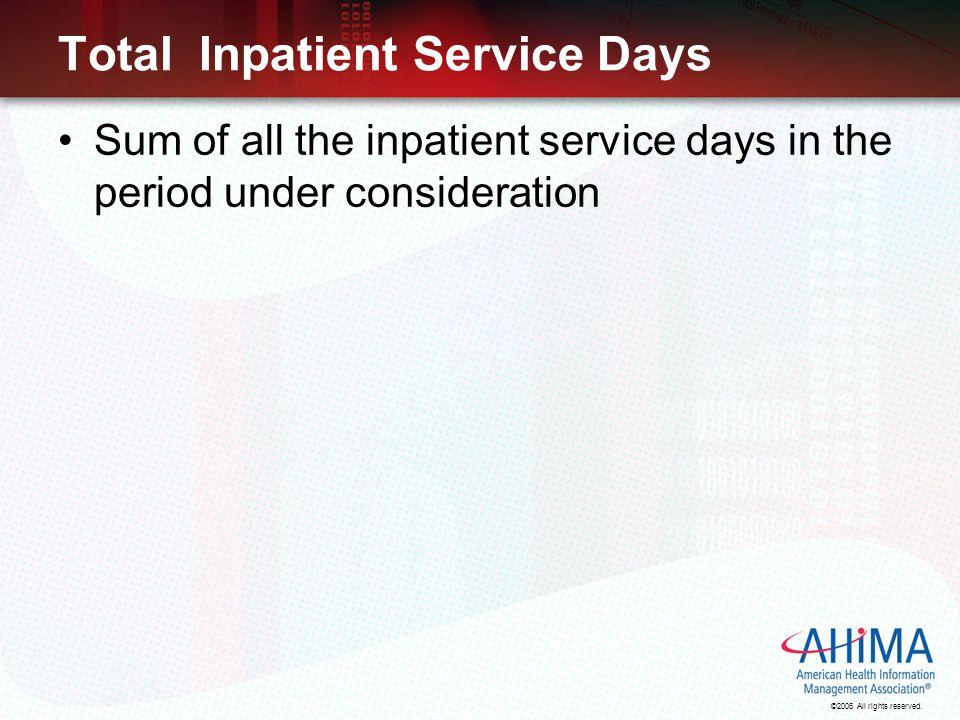 Total Inpatient Service Days