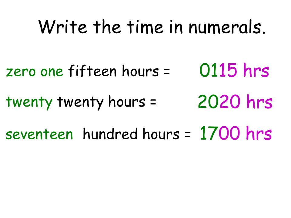 Write the time in numerals.