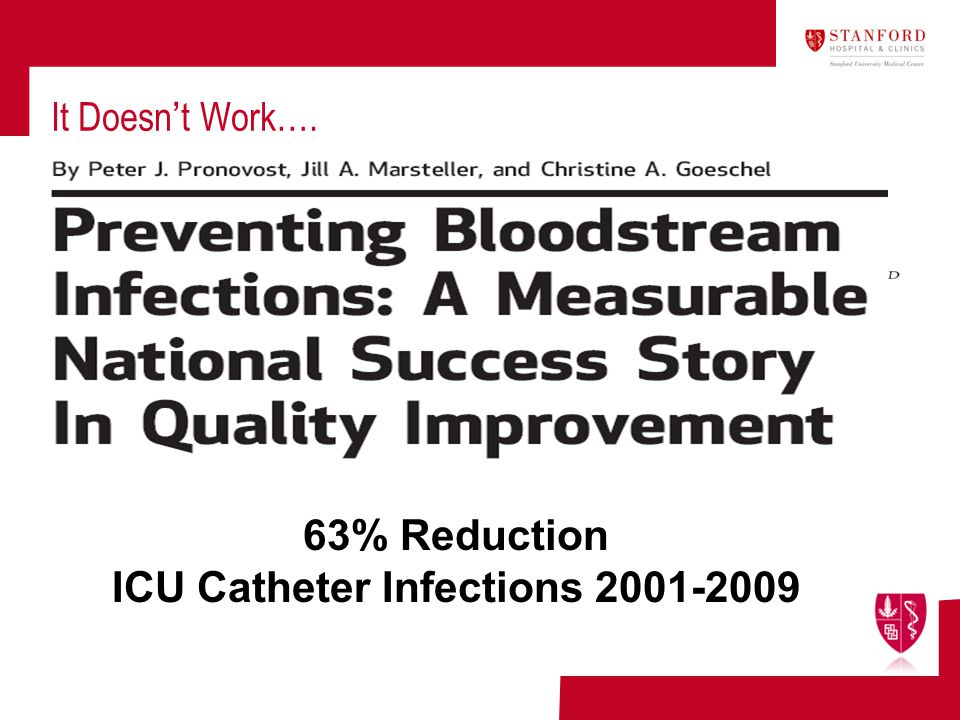 ICU Catheter Infections 2001-2009