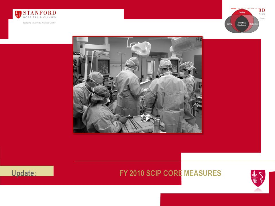 Update: FY 2010 SCIP CORE MEASURES