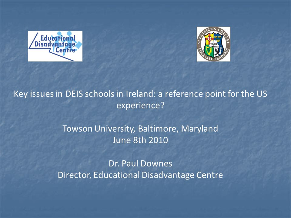 Towson University, Baltimore, Maryland June 8th 2010 Dr. Paul Downes