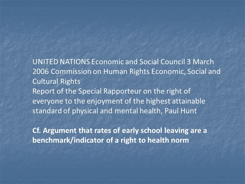 UNITED NATIONS Economic and Social Council 3 March 2006 Commission on Human Rights Economic, Social and Cultural Rights