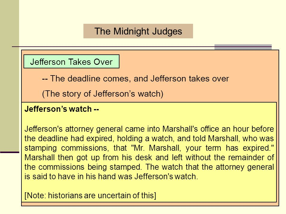 The Midnight Judges Jefferson Takes Over