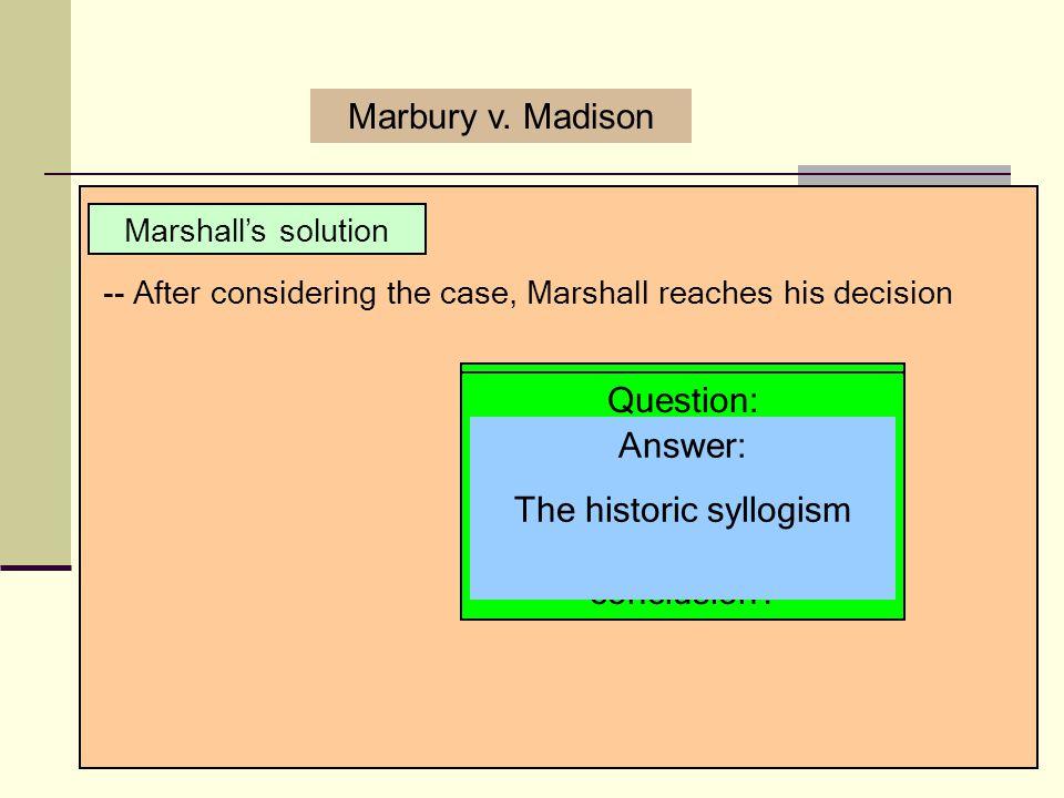 The historic syllogism