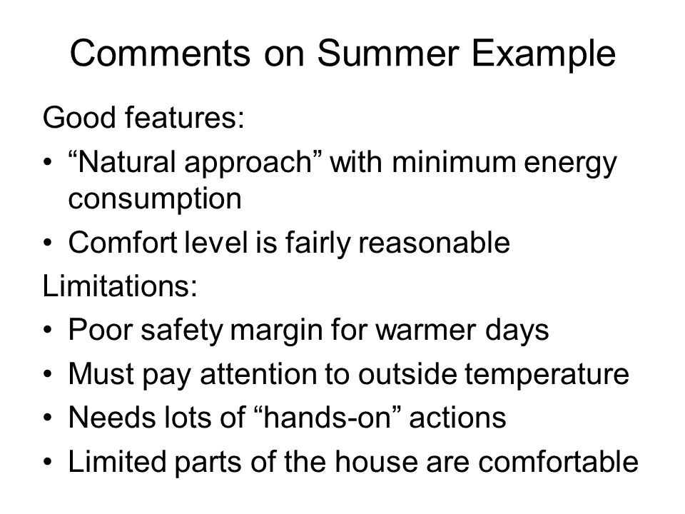 Comments on Summer Example