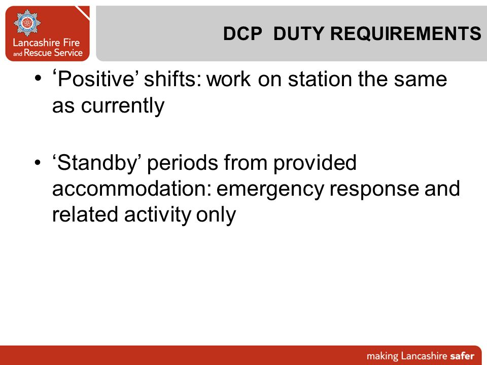 'Positive' shifts: work on station the same as currently