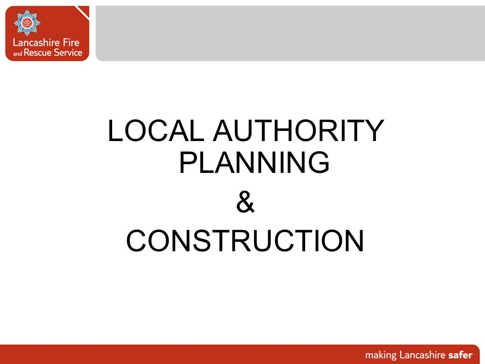 LOCAL AUTHORITY PLANNING
